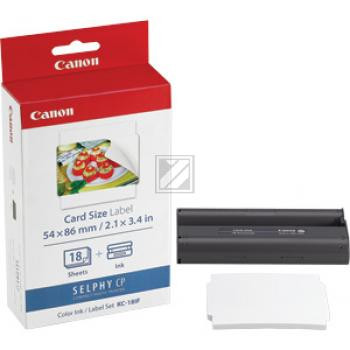 Canon Thermo-Transfer-Rolle weiß farbig 18 Blatt (7741A001, KC-18IF)